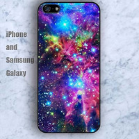 Nebula space fox iPhone 5/5S case Ipod Silicone plastic Phone cover Waterproof