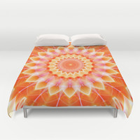 Mandala romantic energy Duvet Cover by Christine baessler