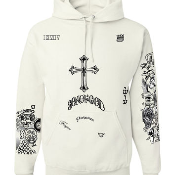 Justin Bieber Son of God body Tattoo women hooded sweatshirt