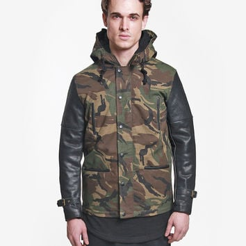 Woodland Military Fishtail Parka Jacket