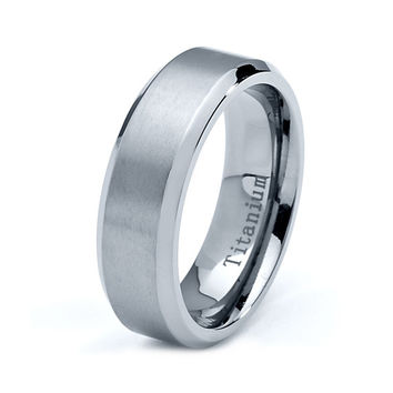 Titanium Wedding Band, Men Titanium Rings, Mens Wedding Band, Titanium Wedding , Titanium Engagement Ring, Wedding Bands, Titanium Women