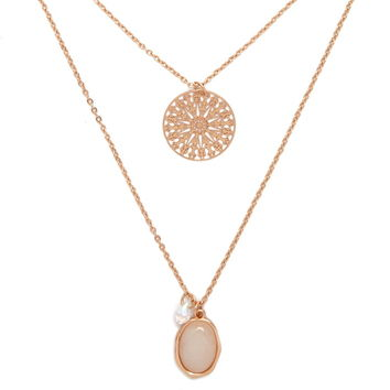 Faux Stone Layered Necklace | Forever 21 - 1000176984