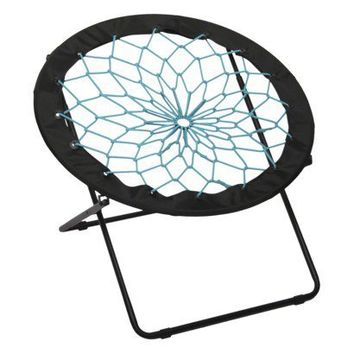 Bungee Chair Black With Teal