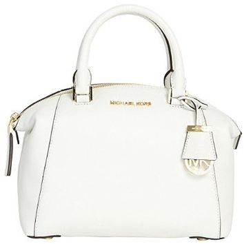 Michael Kors Riley Small Satchel OPTIC WHITE