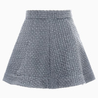 Gray Tweed Skater Skirt