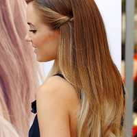 TWO-TONE OMBRE Lauren Conrad Inspired 18 Inches Regular Set 120g Silky Remy Hair Extensions Hilights Any Color Clip In Pastel Unicorn Hair