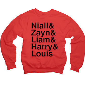 One Direction Womens Sweatshirt - Niall, Zayn, Liam, Harry, & Louis Sweatshirt - All Sizes Available - Item 010