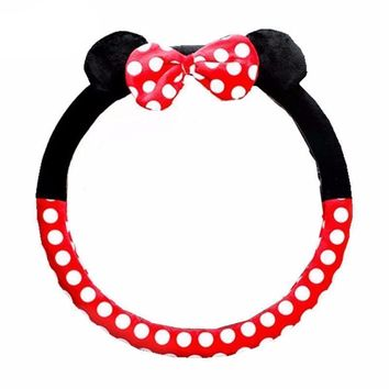 Car Mini Mouse Cartoon Steering Wheel Cover