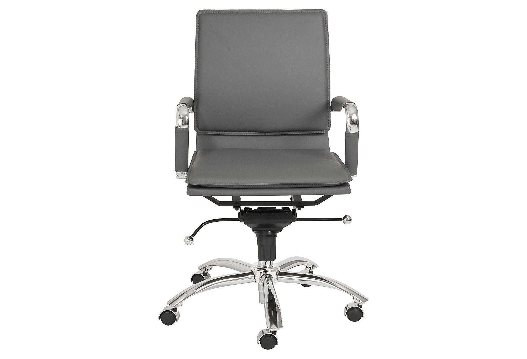 Harvey Office Chair Gray Silver Desk From One Kings Lane