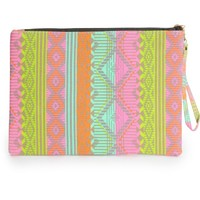 Sachi Neon Tribal Large Pouch