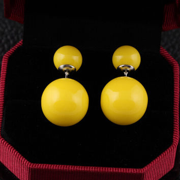 Cute Double Pearl Stud Earrings