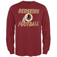 Washington Redskins - Flanker Logo Premium Long Sleeve T-Shirt