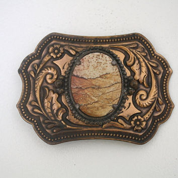 Vintage Copper and Southwestern Belt Buckle.