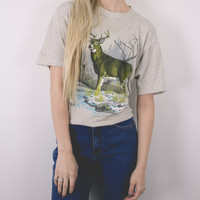 Vintage Distressed Deer T Shirt
