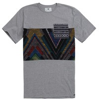 On The Byas Gavin Tribal Pieced T-Shirt - Mens Tee - Gray
