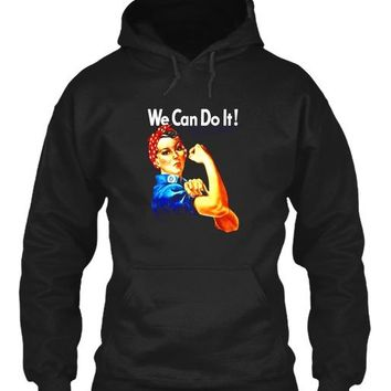 Rosie The Riveter Pullover Hoodie Sweatshirt