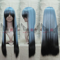 Slick Ghost Snow Girl Silver & Black Mixed Color Wig Cosplay Wig 80cm Long Wig Heat Resistant Free Shipping