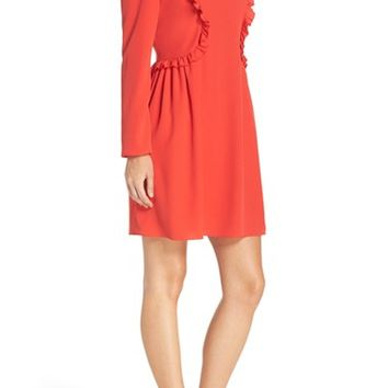 CeCe Carly Ruffle Fit & Flare Dress (Regular & Petite) | Nordstrom