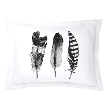 Feathered Trio Pillow Shams