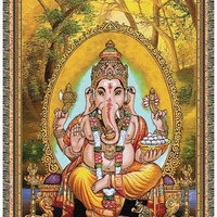 Lord of Success Ganesha Tapestry