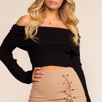 Side Piece Skort - Taupe