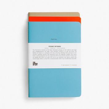 Pessimists School of Thought Notebooks - Omoi Zakka Shop