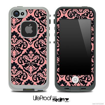 Delicate Pattern Black and Subtle Pink Skin for the iPhone 5 or 4/4s LifeProof Case