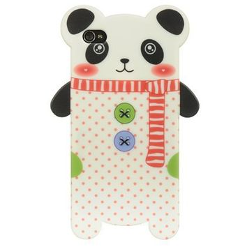 Dream Wireless High-End Skin Case for iPhone 4/4S - Retail Packaging - White- Panda