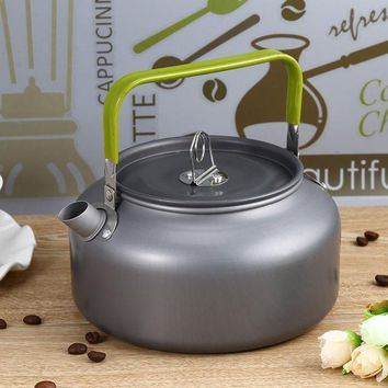 Portable 1.2l Teapot Kettles Aluminum Water Kettle Ultra Light Camping Survival Kettle Tea Coffee Pot Anodised Aluminum Outdoor