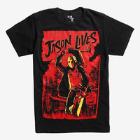 Friday The 13th Jason Lives Mineral Wash T-Shirt