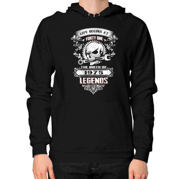 The birth of legends 1975 Hoodie (on man)
