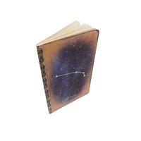 Aries Constellation Journal, Zodiac Notebook, Horoscope, Astronomy, Astrology, Aries Gift