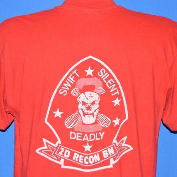 80s Heartbreak Ridge 2D Recon Battalion Movie t-shirt Large