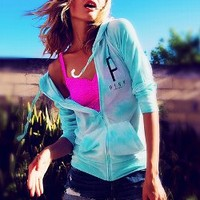 Lightweight Zip Hoodie - PINK - Victoria's Secret