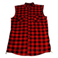 Indie Designs Fear Of God LA Inspired Flannel Sleeveless Shirt