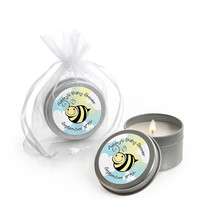 Cute-As-Can-BEE - Personalized Baby Shower Candle Tin Favors