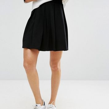 ASOS Mini Skater Skirt with Box Pleats at asos.com