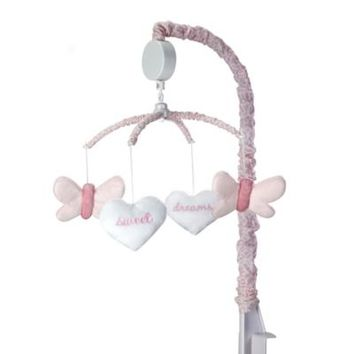 Wendy Bellissimo™ Mix & Match Butterfly Hearts Musical Mobile in Pink/White