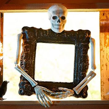 Wall Frame With Skeleton Bones