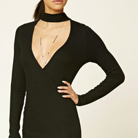 Surplice Choker Top