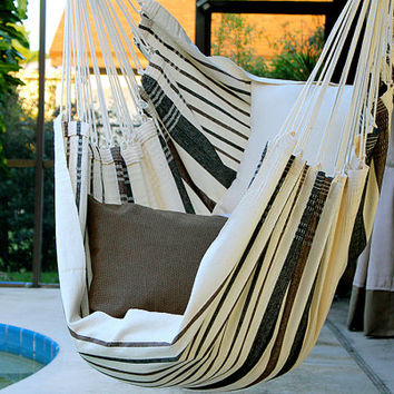 Coconut Flavor - Fine Cotton Hammock Chair, Made in Brazil