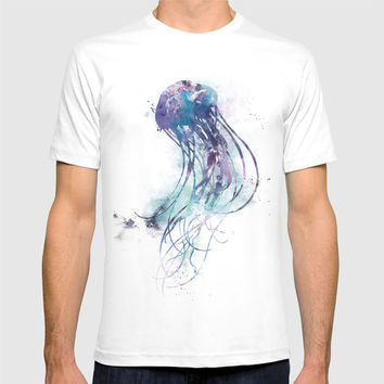Jellyfish T-shirt by monnprint