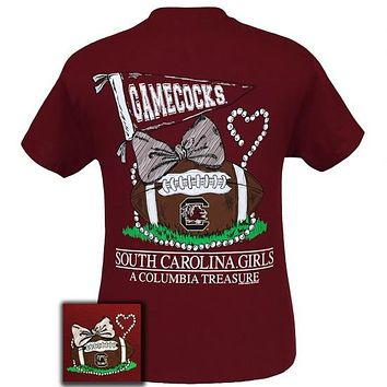 South Carolina Gamecocks Columbia Treasure Pearls Bow T Shirt