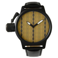 Striped Modern Abstract in Black, Gold, and Olive Wristwatches