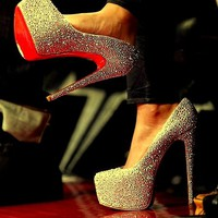 Beyonce-Louboutin-heels-all-star-game | on we heart it / visual bookmark #13185962