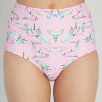 In Tune with the Tides Swimsuit Bottom in Sharks | Mod Retro Vintage Bathing Suits | ModCloth.com