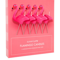 Pink Flamingo Candle Set