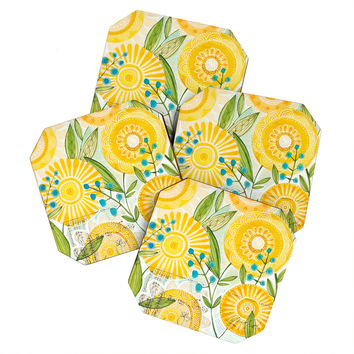 Cori Dantini Sun Burst Flowers Coaster Set