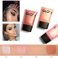 New Hot Brown Pink White Shimmer Face Bronzer Make Up Glow Foundation Base Brightener Liquid Highlighter FOCALLURE Makeup