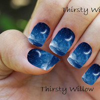 Beautiful Night Sky Full Wrap Nail Decals